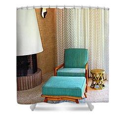 Sinatra Blue Chair Sinatra House Palm Springs Shower Curtain