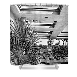 Sinatra Patio Bw Palm Springs Shower Curtain