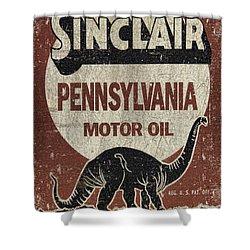 Sinclair Motor Oil Can Shower Curtain