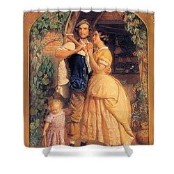 Sinews Old England Shower Curtain by George Elgar Hicks