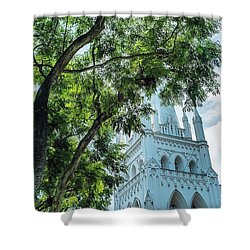 Singapore Beauty Shower Curtain