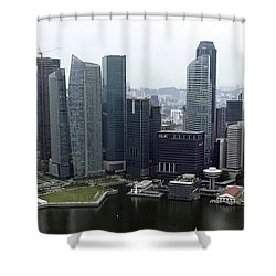 Shower Curtain featuring the photograph Singapore Skyline by Shoal Hollingsworth