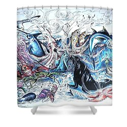 Singing Beach Shower Curtain by James Oliver