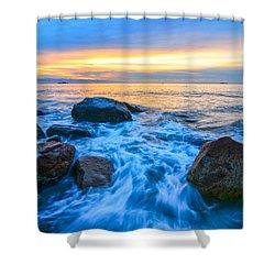 Singing Sunrise Singing Beach Shower Curtain