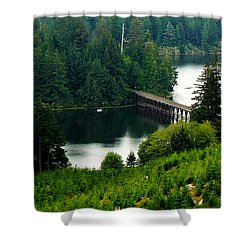 Shower Curtain featuring the photograph Single Boat by Katie Wing Vigil