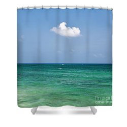 Single Cloud Over The Caribbean Shower Curtain