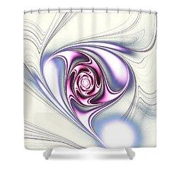 Single Rose Shower Curtain by Anastasiya Malakhova