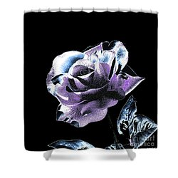 Single Rose V Shower Curtain by Annie Zeno