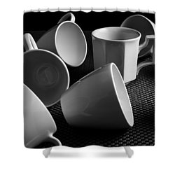 Singled Out - Coffee Cups Shower Curtain by Steven Milner