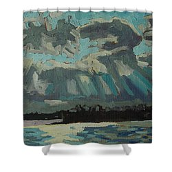Singleton Cold Front Shower Curtain by Phil Chadwick