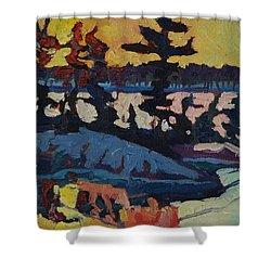 Singleton Sunset Shower Curtain by Phil Chadwick