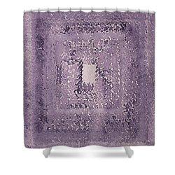 Singularity Original Painting Shower Curtain by Sol Luckman