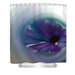 Shower Curtain featuring the mixed media Sinking Into Beauty by Frank Bright