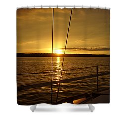 Shower Curtain featuring the photograph Stay Golden by Deena Stoddard