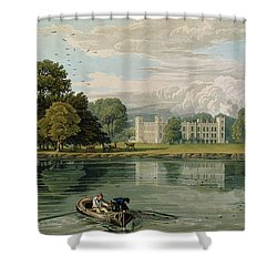 Sion House, Engraved By Robert Havell Shower Curtain by William Havell