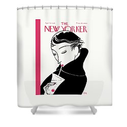 Sipping In Style Shower Curtain