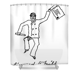 Sir Arthur Conan Doyle Shower Curtain by Granger