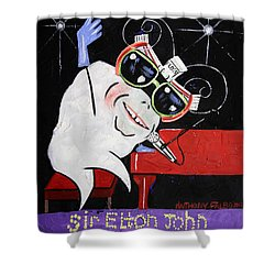 Sir Elton John Tooth  Shower Curtain by Anthony Falbo