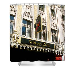 Sir Francis Drake Hotel Shower Curtain by Connie Fox