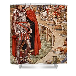 Sir Galahad Is Brought To The Court Of King Arthur Shower Curtain