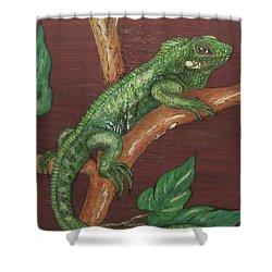 Sir Iguana Shower Curtain