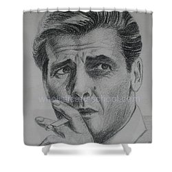 Sir Roger Moore 007 Shower Curtain by PainterArtist FINs husband MAESTRO