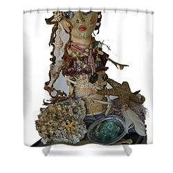 Shower Curtain featuring the sculpture Siren by Avonelle Kelsey