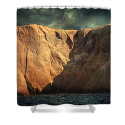 Siren Rocks Shower Curtain by Taylan Apukovska