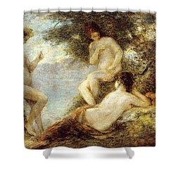 Sirens Shower Curtain by Ignace Henri Jean Fantin-Latour