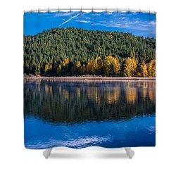 Siskiyou Lake Shoreline Shower Curtain