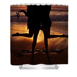 Sister Sunset Shower Curtain by Kerri Mortenson