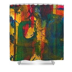 Shower Curtain featuring the painting Sisters by Anna Ruzsan