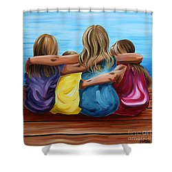 Sisters Shower Curtain by Debbie Hart