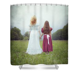 Sisters Shower Curtain by Joana Kruse
