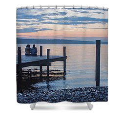 Sisters - Lakeside Living At Sunset Shower Curtain