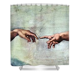 Sistine Chapel Shower Curtain by SPL and Photo Researchers