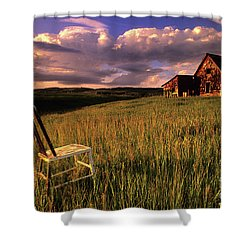 Sit A Spell Shower Curtain by Bob Christopher