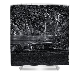Sit And Ponder Shower Curtain