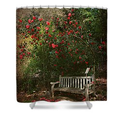 Sit With Me Here Shower Curtain by Laurie Search