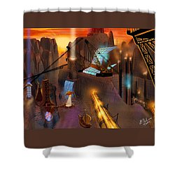 Siton Provence Shower Curtain by Gerry Robins