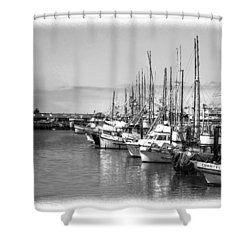 Sitten In The Harbor Shower Curtain by William Havle