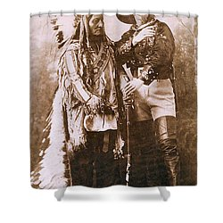 Sitting Bull And Buffalo Bill Shower Curtain by Unknown