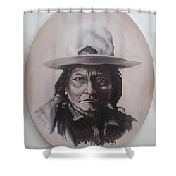 Sitting Bull Shower Curtain by Michael  TMAD Finney