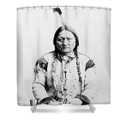 Sitting Bull Shower Curtain by War Is Hell Store