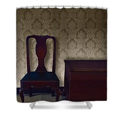 Sitting Room At Dusk Shower Curtain by Margie Hurwich