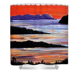 Sitting Seaside Shower Curtain