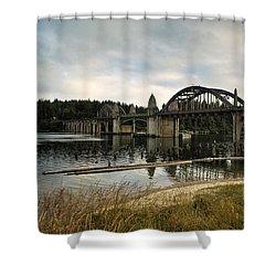 Siuslaw River Bridge Shower Curtain by Belinda Greb