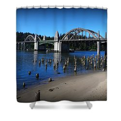 Siuslaw River Bridge Oregon Shower Curtain