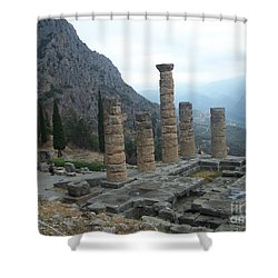Six Columns Shower Curtain