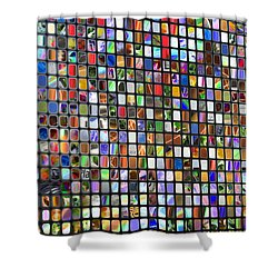Six Hundred Rectangles Shower Curtain